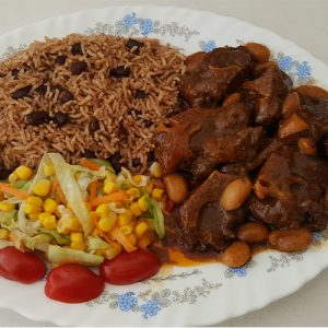 Master's Home Touch Caribbean Cuisine Oxtail _Rice_and_Peas