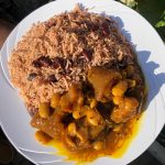 Master's Home Touch Caribbean Cuisine Cow Foot Rice and Peas